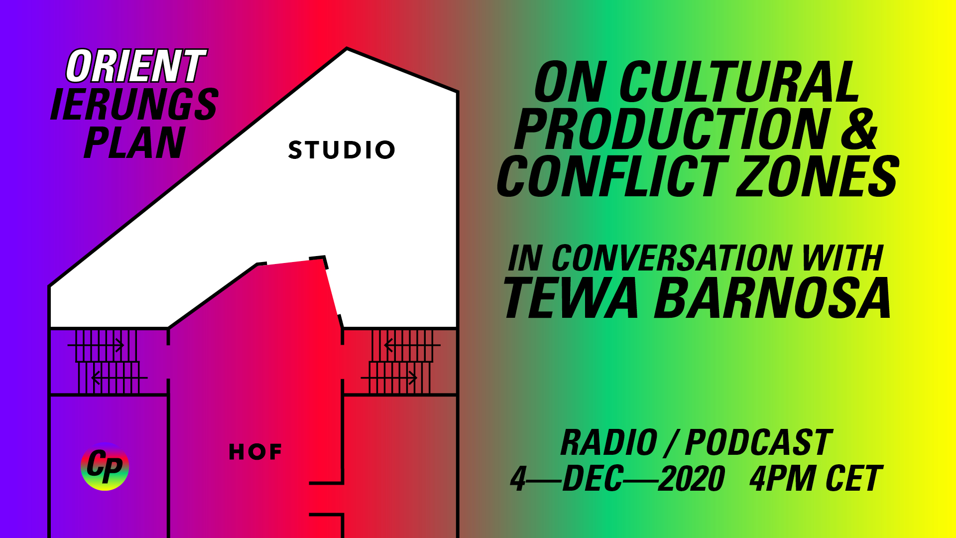 ORIENTierungsplan Episode #4: On Cultural Production & Conflict Zones – in conversation with Tewa Barnosa.